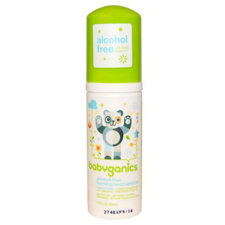 BabyGanics, Foaming Hand Sanitizer, Alcohol-Free, Fragrance Free 50ml