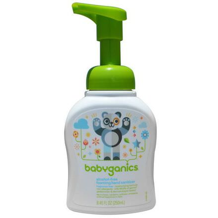 BabyGanics, Foaming Hand Sanitizer, Alcohol Free, Fragrance Free 250ml
