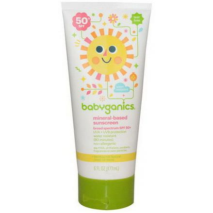 BabyGanics, Mineral-Based Sunscreen, 50+ SPF 177ml