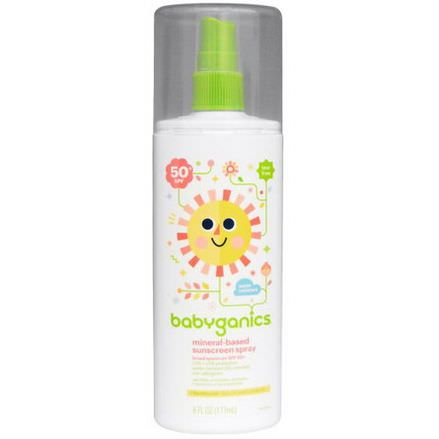 BabyGanics, Mineral-Based Sunscreen Spray, 50 SPF 177ml