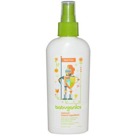 BabyGanics, Natural Insect Repellent, Deet Free 177ml