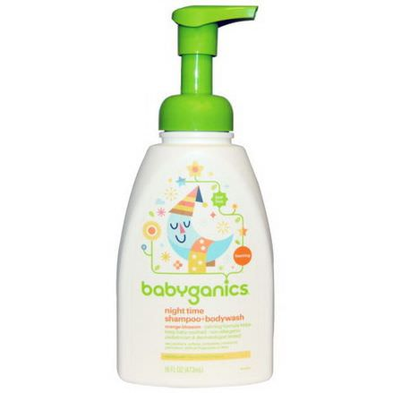 BabyGanics, Night Time Shampoo Bodywash, Orange Blossom 473ml