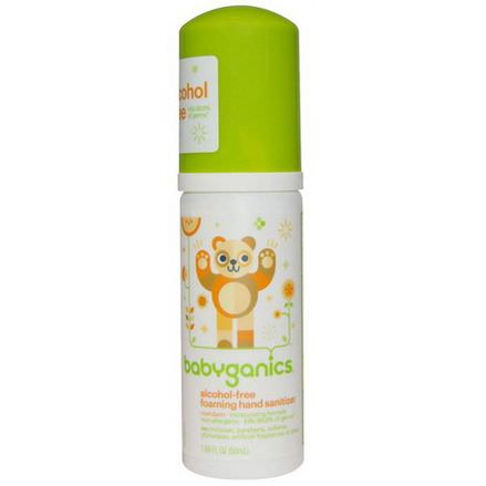 BabyGanics, The Germinator, Foaming Hand Sanitizer, Alcohol-Free, Tangerine 50ml