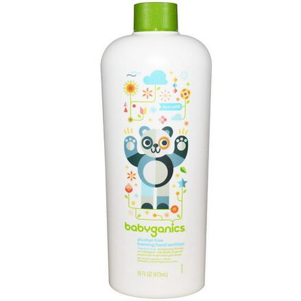 BabyGanics, The Germinator, Foaming Hand Sanitizer, Eco Refill, Alcohol Free, Fragrance Free 473ml