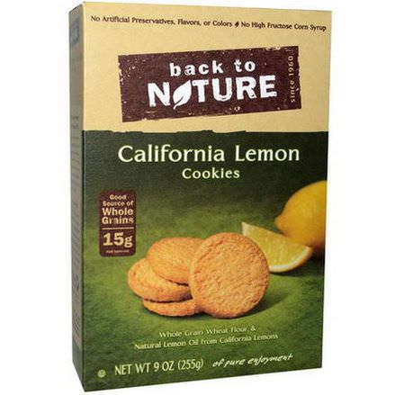 Back to Nature, California Lemon Cookies 255g