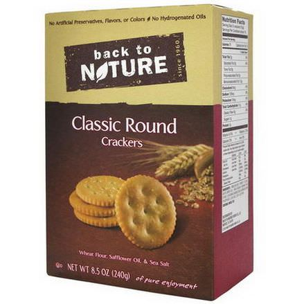 Back to Nature, Classic Round Crackers 240g