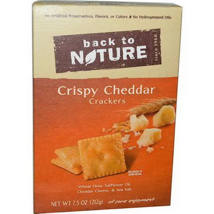 Back to Nature, Crispy Cheddar Crackers 212g