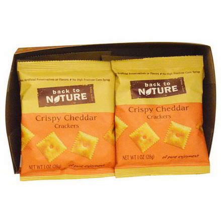 Back to Nature, Crispy Cheddar Crackers, 8 Pouches 28g Each