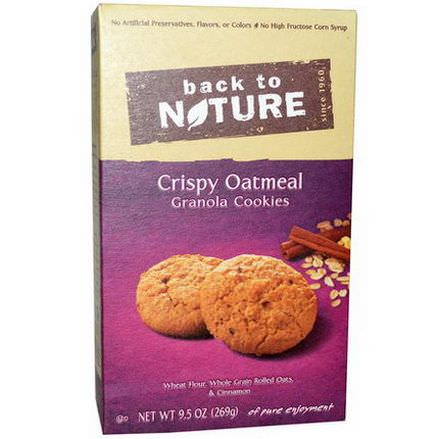 Back to Nature, Crispy Oatmeal Granola Cookies 269g