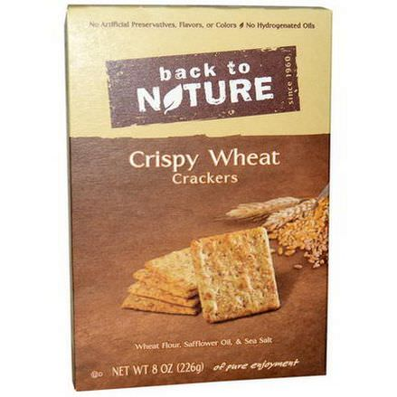 Back to Nature, Crispy Wheat Crackers 226g