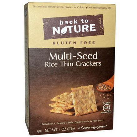 Back to Nature, Gluten Free, Multi-Seed Rice Thin Crackers 113g