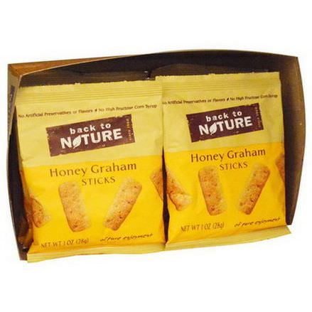 Back to Nature, Honey Graham Sticks, 8 Pouches 28g Each
