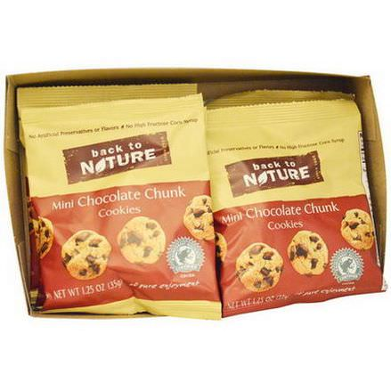 Back to Nature, Mini Chocolate Chunk Cookies, 6 Pouches 35g Each