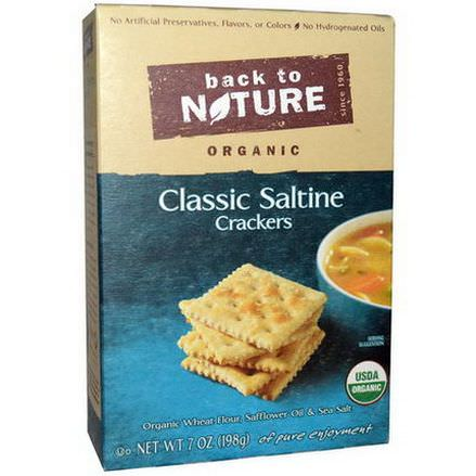 Back to Nature, Organic Classic Saltine Crackers 198g