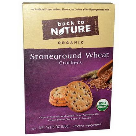 Back to Nature, Organic Stoneground Wheat Crackers 170g