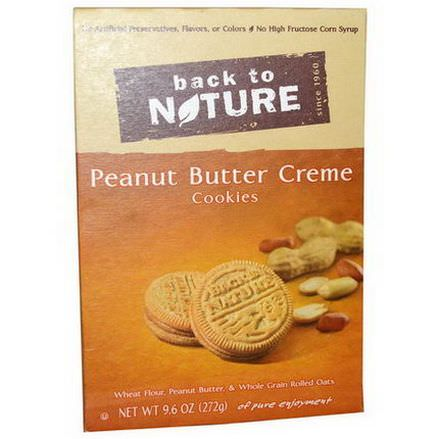 Back to Nature, Peanut Butter Creme Cookies 272g