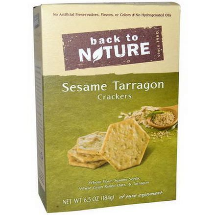 Back to Nature, Sesame Tarragon Crackers 184g