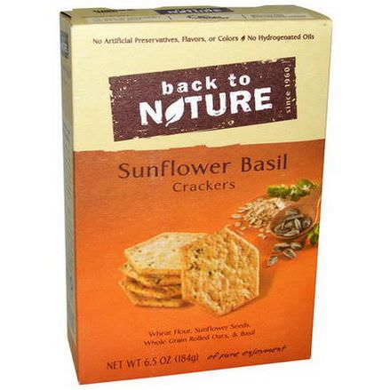 Back to Nature, Sunflower Basil Crackers 184g