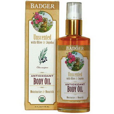 Badger Company, Antioxidant Body Oil, Unscented 118ml