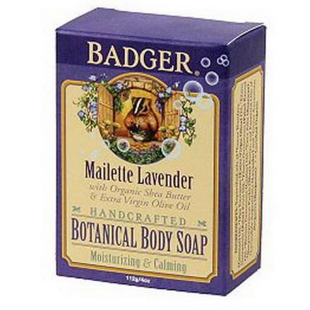 Badger Company, Botanical Body Soap, Maillette Lavender 112g