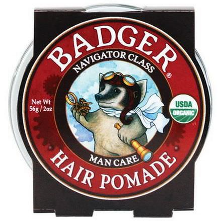 Badger Company, Organic Hair Pomade, Navigator Class, Man Care 56g