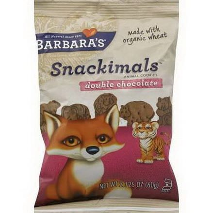 Barbara's Bakery, Snackimals, Animal Cookies, Double Chocolate 60g