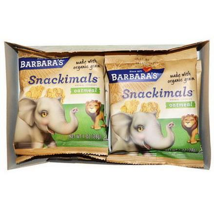 Barbara's Bakery, Snackimals, Animal Cookies, Oatmeal, 6 Bags 28g Each