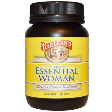 Barlean's, The Essential Woman, 1000mg, 120 Softgels