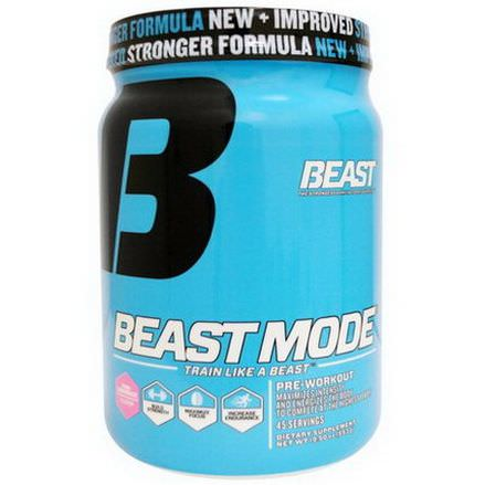 Beast Sports Nutrition, Beast Mode, Pink Lemonade 553g