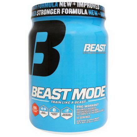 Beast Sports Nutrition, Beast Mode, Pre-Workout, Beast Punch Flavor 549g