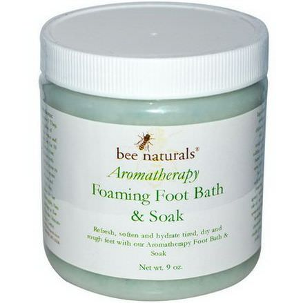 Bee Naturals, Aromatherapy Foaming Foot Bath&Soak, 9 oz