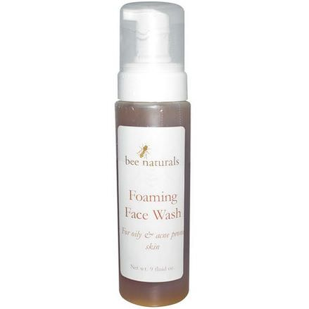 Bee Naturals, Foaming Face Wash, 9 fl oz