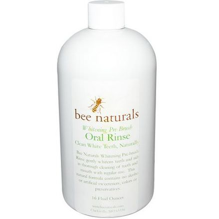 Bee Naturals, Whitening Pre-Brush, Oral Rinse, 16 fl oz