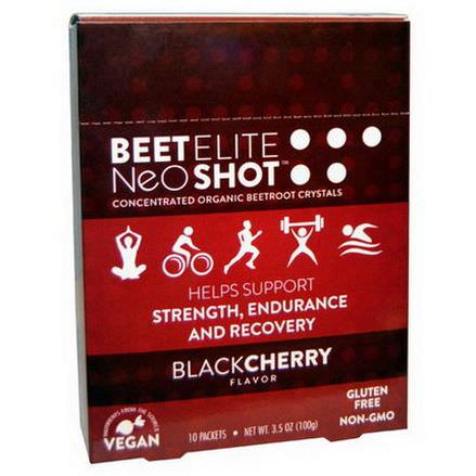 BeetElite, Neogenis Sport, BeetElite, NeoShot, Blackcherry Flavor, 10 Packets 10g Each