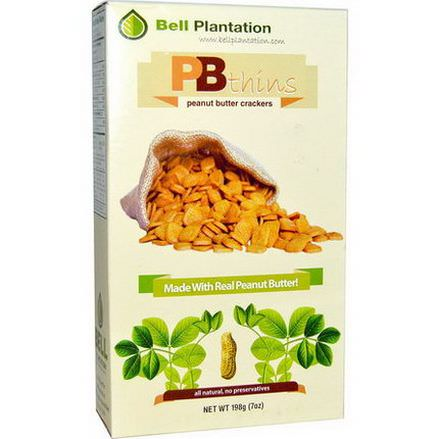 Bell Plantation, PB Thins, Peanut Butter Crackers 198g