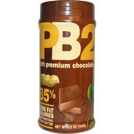 Bell Plantation, PB2, Powdered Peanut Butter with Premium Chocolate 184g