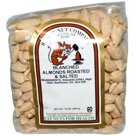 Bergin Fruit and Nut Company, Blanched Almonds, Roasted&Salted 454g