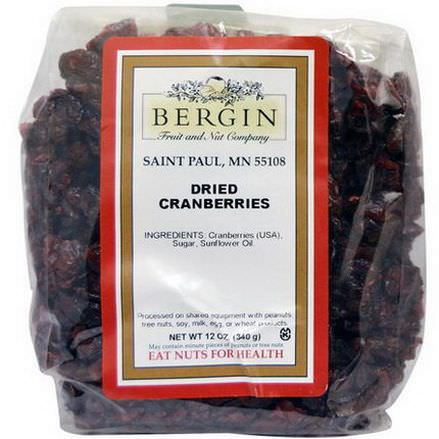 Bergin Fruit and Nut Company, Dried Cranberries 340g