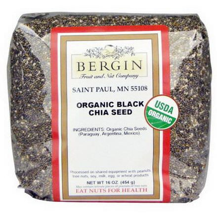 Bergin Fruit and Nut Company, Organic Black Chia Seed 454g