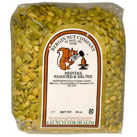Bergin Fruit and Nut Company, Pepitas Roasted&Salted, 14 oz
