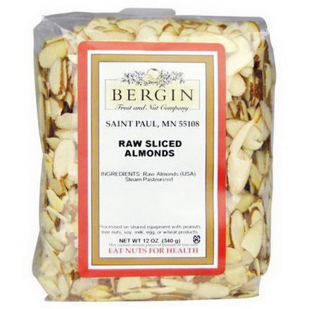 Bergin Fruit and Nut Company, Raw Sliced Almonds 340g