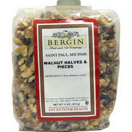 Bergin Fruit and Nut Company, Walnut Halves and Pieces 312g