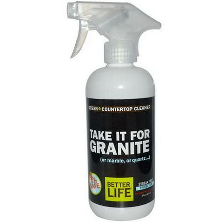 Better Life, Take it for Granite, Green Countertop Cleaner, Pomegranate&Grapefruit 473ml