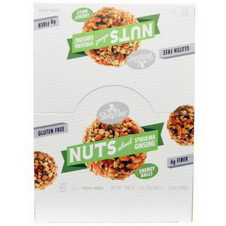 Betty Lou's, Nuts About Spirulina Ginseng Energy Balls, 12 Balls 40g Each