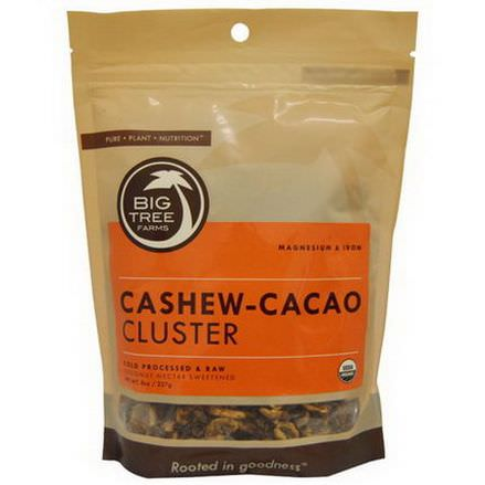Big Tree Farms, Cashew-Cacao Cluster, Coconut Nectar Sweetened 227g