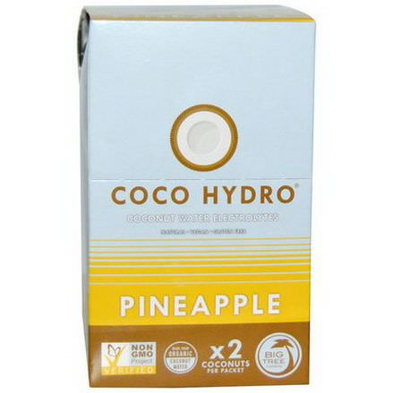 Big Tree Farms, Coco Hydro, Pineapple, 15 Packets 22g Each