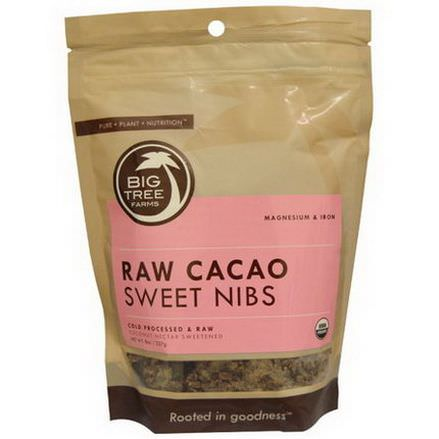Big Tree Farms, Raw Cacao Sweet Nibs, Coconut Nectar Sweetened 227g