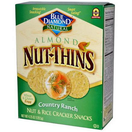 Blue Diamond, Almond Nut-Thins, Nut&Rice Cracker Snacks, Country Ranch 120.5g