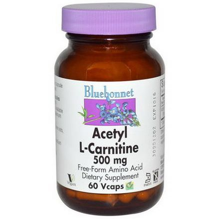 Bluebonnet Nutrition, Acetyl L-Carnitine, 500mg, 60 Vcaps