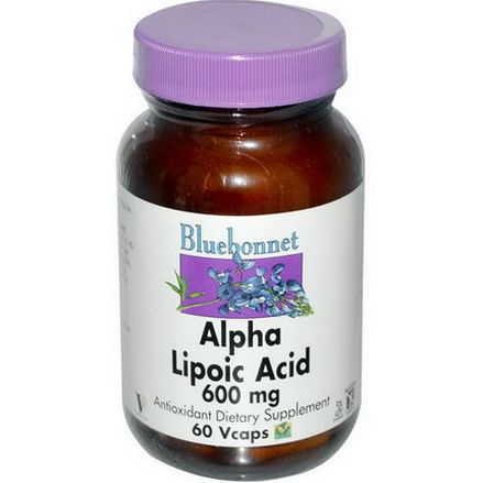 Bluebonnet Nutrition, Alpha Lipoic Acid, 600mg, 60 Vcaps